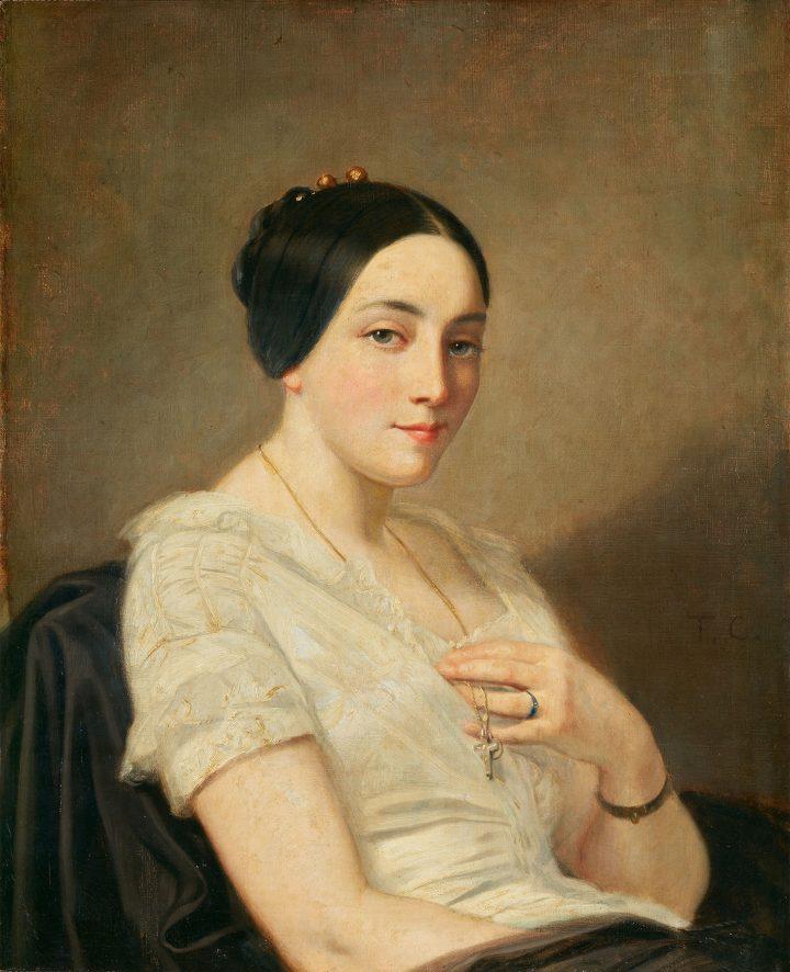 "Thomas Couture, ""Portrait de jeune femme assise [Portrait of a seated young woman]"" (image courtesy Bundes Kunsthalle)"