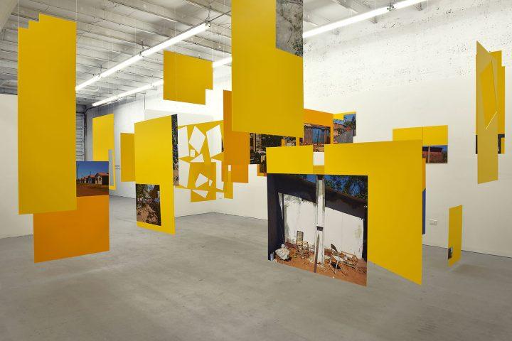 "Sergio Vega, ""Shanty Nucleus After Derrida 2"" (2011–13), installation, inkjet vinyl prints mounted on syntra (gift of Nicholas Pardon, image courtesy Nicholas Pardon)"