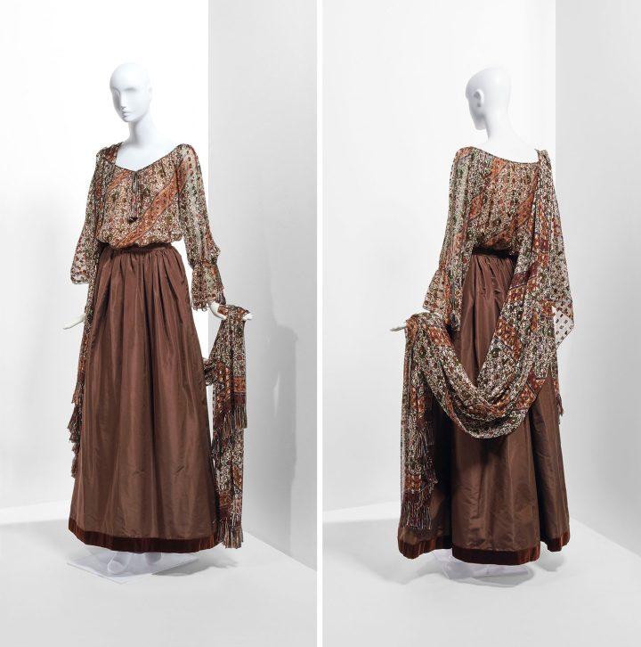 Yves Sain Laurent Haute Couture, Autumn/Winter 1977–1978 (image courtesy Christie's)