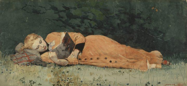 "Winslow Homer, ""The New Novel"" (1877)"