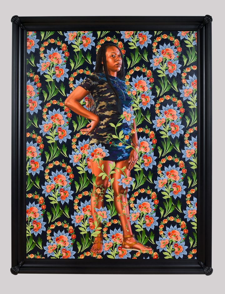 """Kehinde Wiley, """"Charles I"""" (2018), oil on linen, 96 x 72 inches (image courtesy Saint Louis Museum of Art)"""