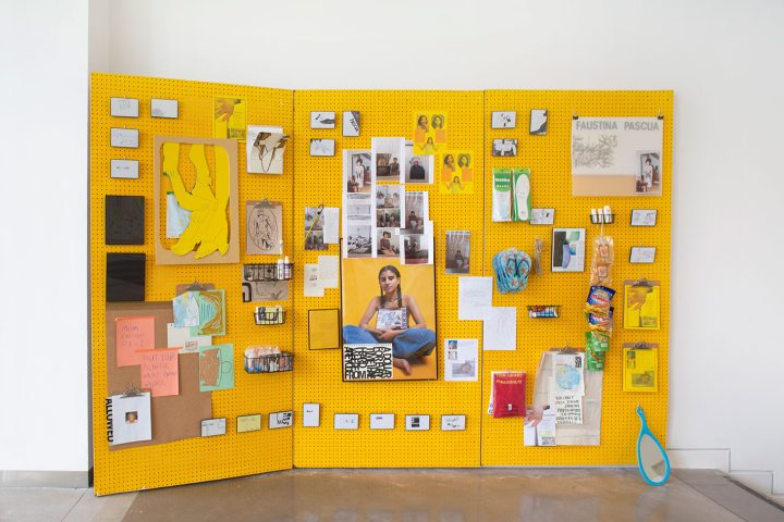 """KT Pe Benito, installation view of """"Entries to Faustina (Growing out of colonialism for my grandmother's sake)"""" (2018) (image courtesy the Queens Museum, photo by Hai Zhang)"""