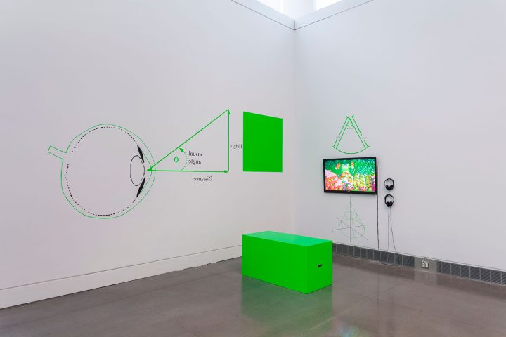 """Umber Majeed, installation view of """"Hypersurface of the Present"""" (2018) (image courtesy the Queens Museum, photo by Hai Zhang)"""
