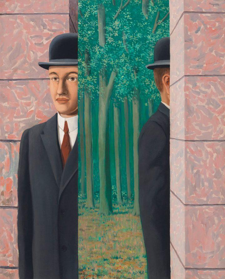 """René Magritte, """"Le lieu commun"""" (1964), oil on canvas, 39 3/8 x 31 7/8 inches (image courtesy Christie's)"""