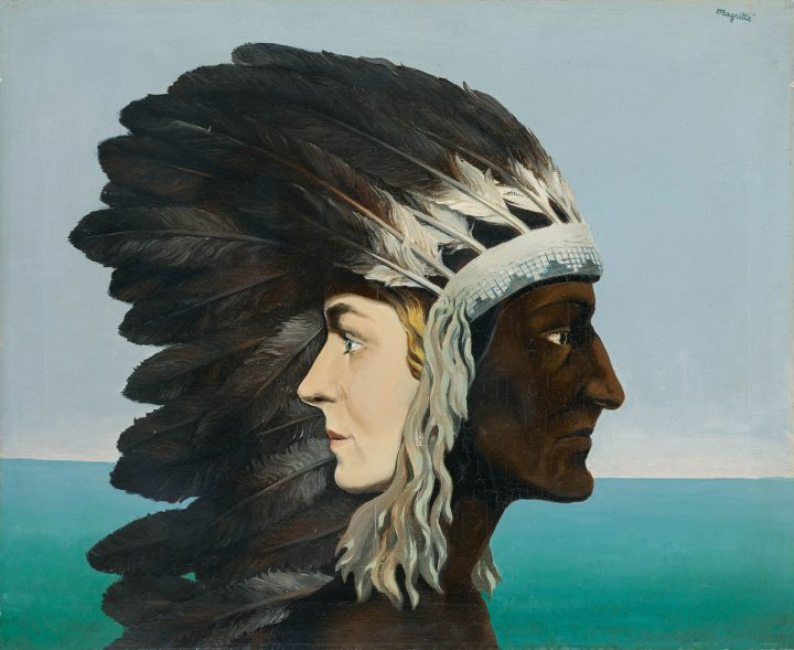 "René Magritte, ""L'Étoile du Matin"" (1938), oil on canvas, 19 3/8 x 24inches (image courtesy Sotheby's)"
