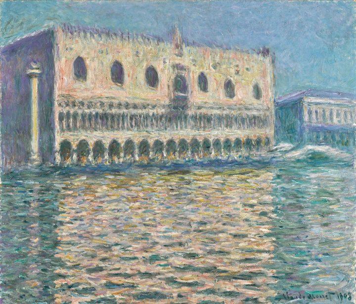 "Claude Monet, ""Le Palais Ducal"" (1908), oil on canvas, 31 7/8 x 36 5/8 inches (image courtesy Sotheby's)"