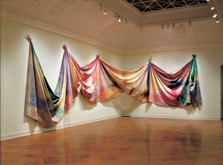 """Sam Gilliam, """"Light Depth"""" (1969), acrylic on canvas (image courtesy Corcoran Gallery of Art, Gift from the Trustees of the Corcoran Gallery of Art (Museum Purchase, Gallery Fund), 2018)"""