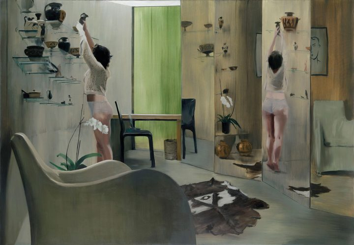 """Caroline Walker, """"Conservation"""" (2010), oil on canvas, 78 3/4 x 114 3/8 inches (image courtesy Christie's)"""