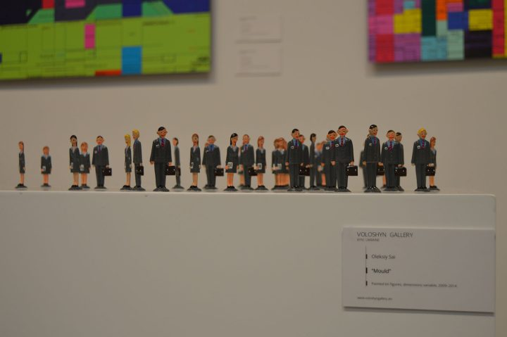 """Oleksiy Sai, """"Mould"""" (2009–2014), painted tin figures, dimensions variable, Voloshyn Gallery, Kyiv"""