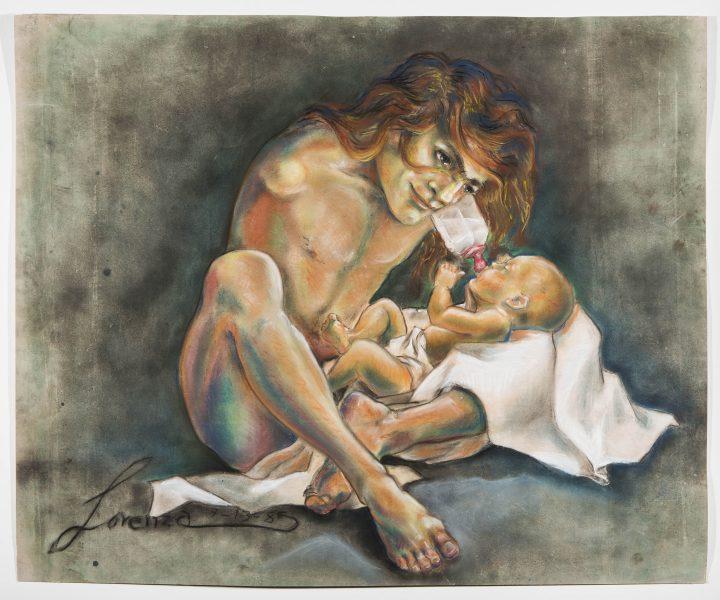 "Lorenza Böttner, ""Untitled"" (1980), pastel crayon on paper"