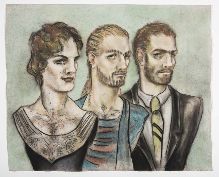 "Lorenza Böttner, ""Untitled"" (undated), pastel crayon on paper"