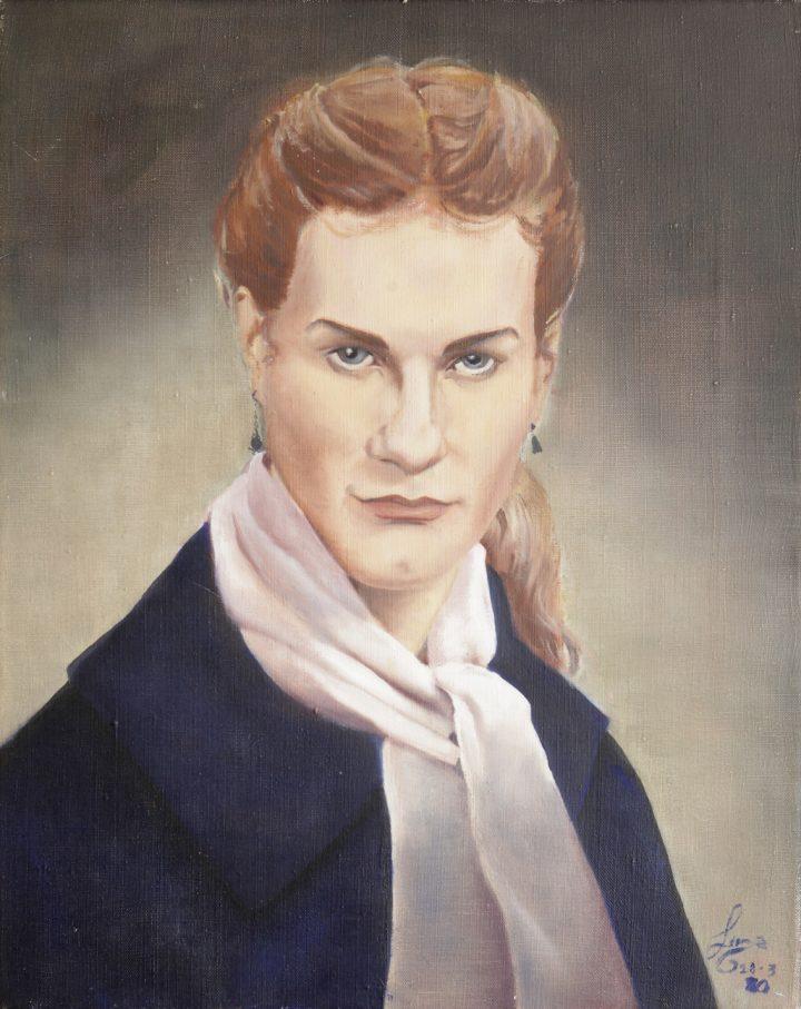 "Lorenza Böttner, ""Untitled"" (1980), acrylic on canvas"