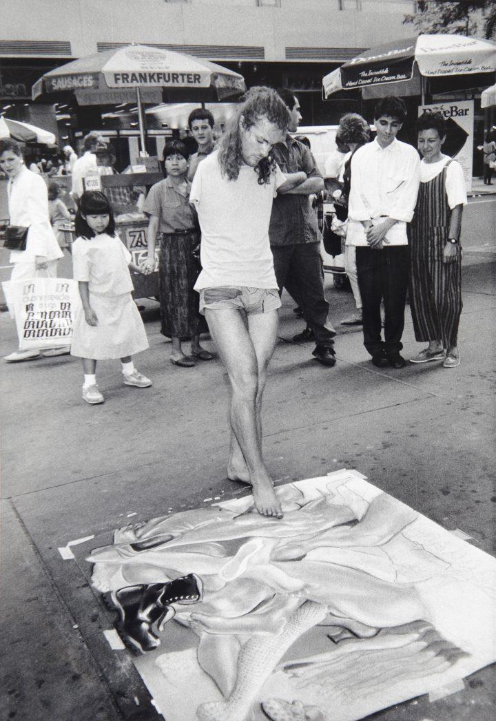 "Lorenza Böttner, ""Untitled"" (1982), black and white photography"