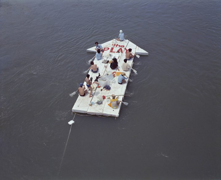 """The Play, """"Current of Contemporary Art"""" (1969), documentary photograph of outdoor performance (photo courtesy of The Play)"""