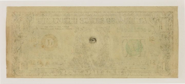 "Mel Chin, ""The Eye of the Beholder,"" 1 dollar denomination (image courtesy the artist)"