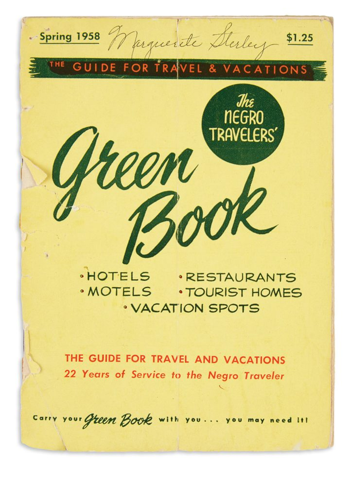 Victor H. Green, <em>The Negro Travelers Green Book</em>, New York, 1958 (image courtesy Swann Galleries)
