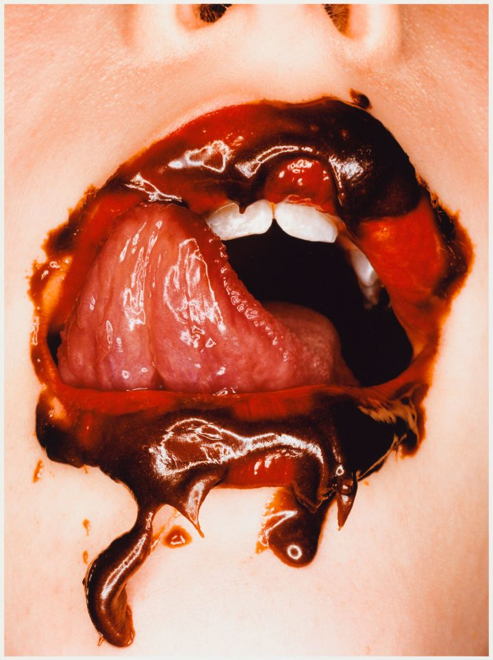 "Irving Penn, ""Chocolate Mouth"" (2000) (© Condé Nast, image courtesy Moderna Museet)"
