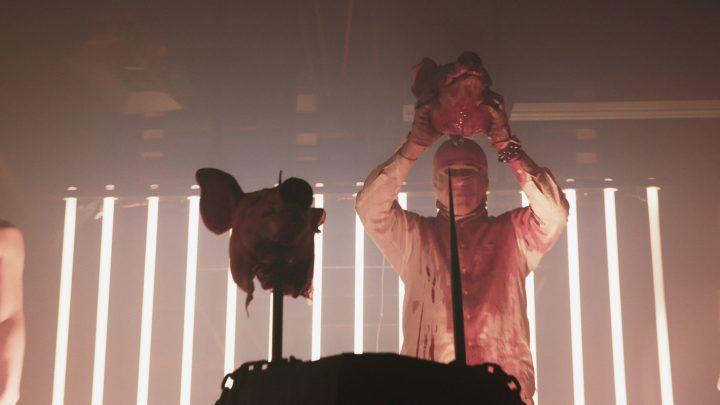 Still from Jex Blackmore-led ritual in Detroit in <em>Hail Satan?</em>