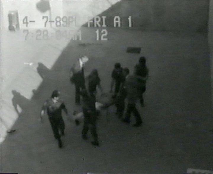 Harun Farocki, still from <em>Prison Images</em> (2000), video collage, b&w, 60 min. (Copyright Harun Farocki GbR, Berlin)