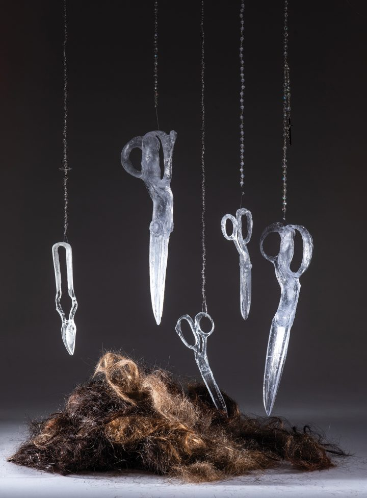 A Memorial to Crimes Against Women and Children in Ghostly Glass