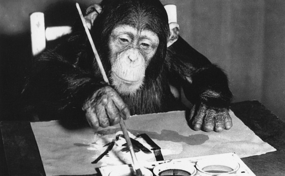 Seeing Ourselves in a Chimpanzee's Art