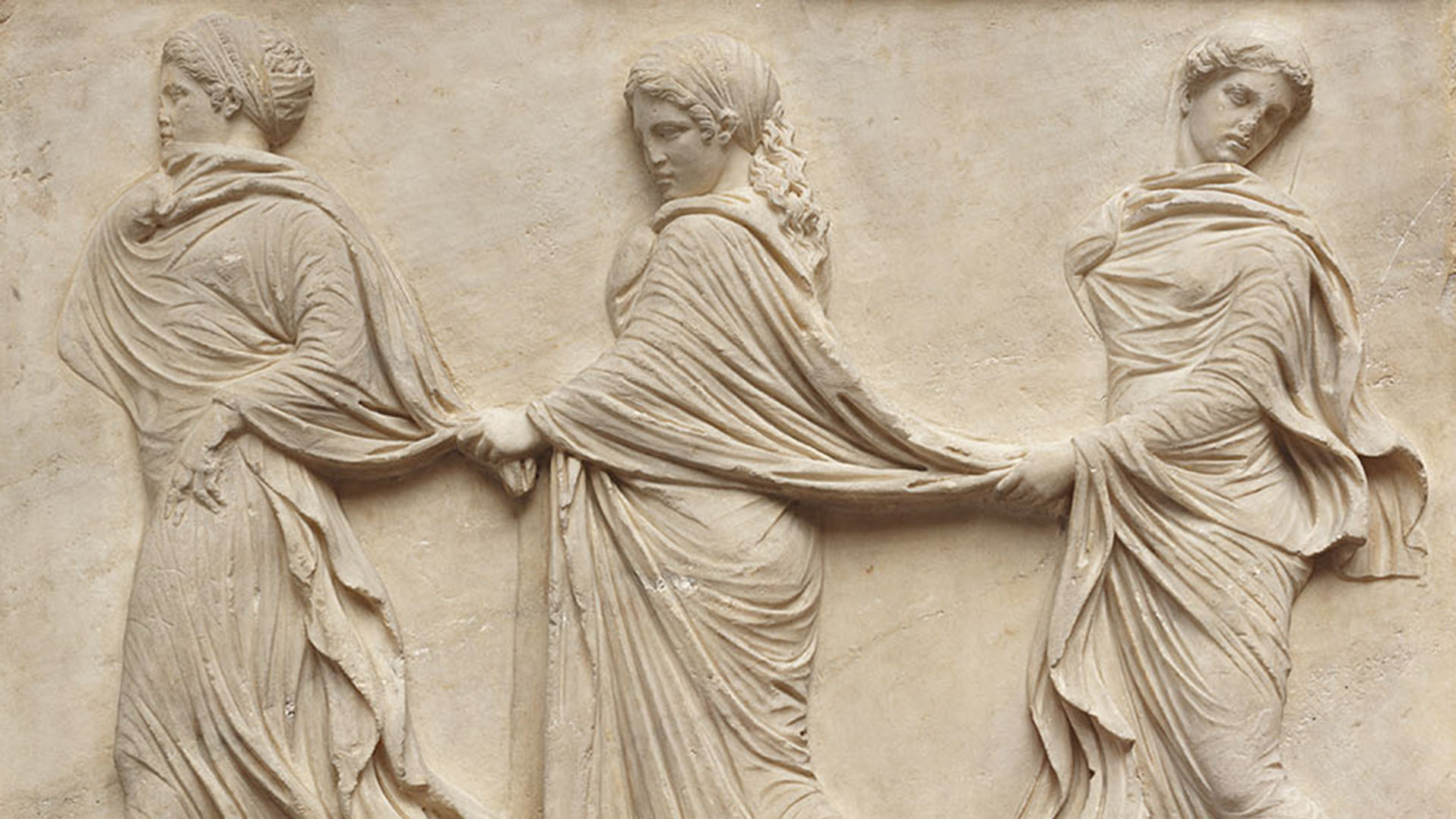 Relief of three dancing nymphs detail 1st century CE. Marble. 1 e1590701753249