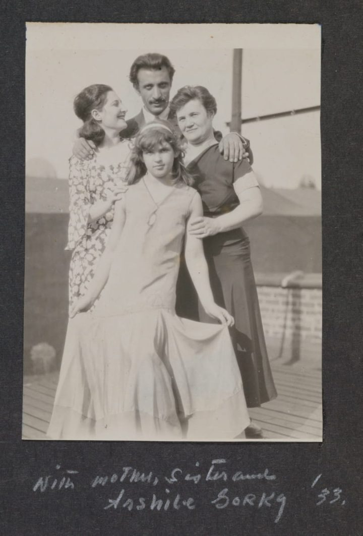 1933 Age27 AWwithArshileGorky sisterEmilyWalinskyAge12 motherRosaNewmanWalinska addedAug7 1