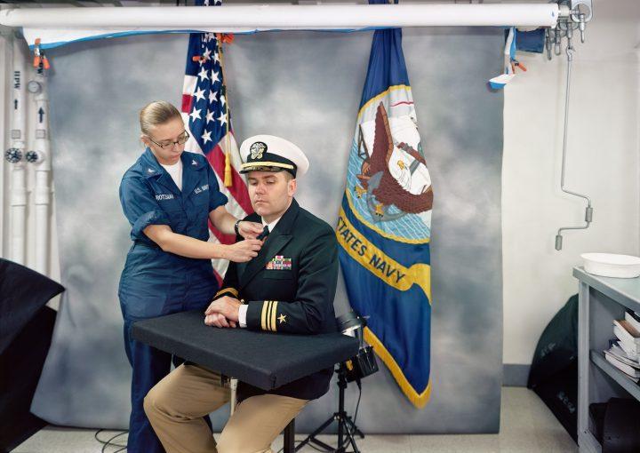 Events Ashore Portrait Studio USS Ronald Reagan North Arabian Gulf 2009