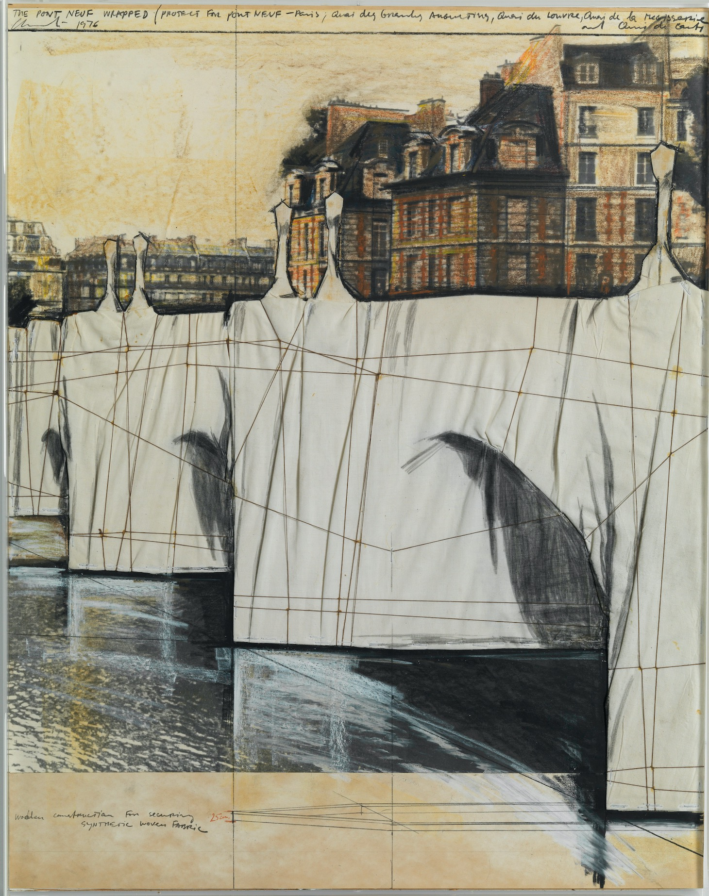 17. The Pont Neuf Wrapped Project for Paris 1976