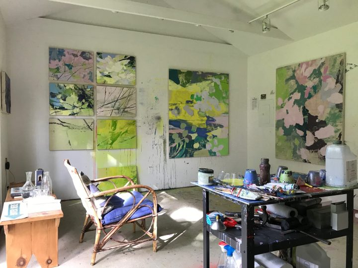 Eric Dever studio Water Mill NY June 2020