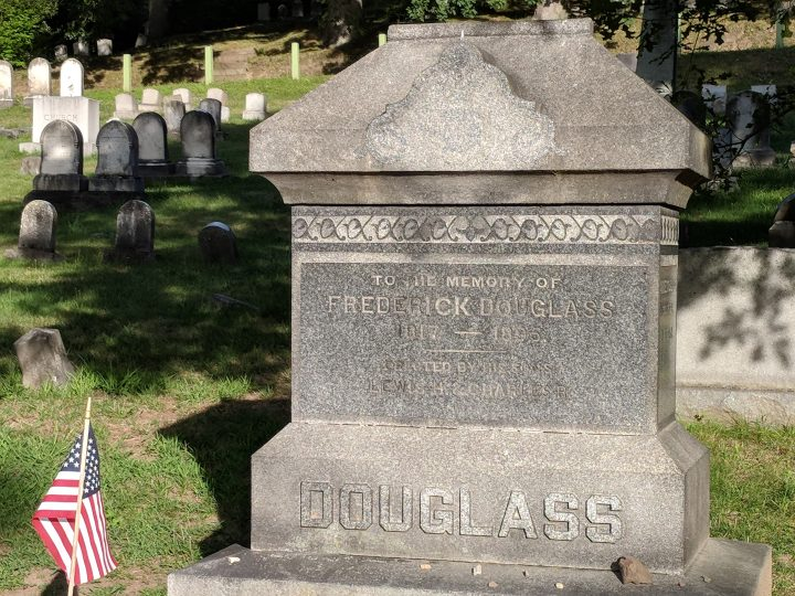 Frederick Douglass gravestone 2018