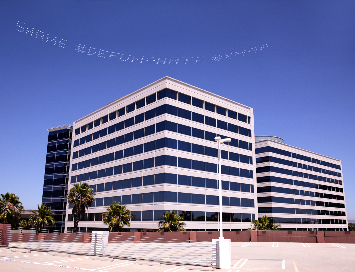 SHAME DEFUNDHATE XMAP   Cassils   Los Angeles Geo Group Headquarters   July3   Robin Black   In Plain Sight 04S e1594073161520