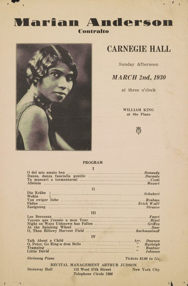 Last month, University of Pennsylvania Libraries introduced the newly-digitized and publicly accessible archives of famend Philadelphia native and contralto Marian Anderson (1897–1993), a world-famous recitalist and interpreter of artwork songs and spirituals. The assortment contains some 2,500 objects from Anderson's private historical past, from letters, diaries, and journals, to interviews, recital packages, and personal recordings; these now accompanya visible archive of greater than 4,000 footage. The digitization challenge was funded in 2018 by a $110,000 grant from the Council on Library and Information Resources.