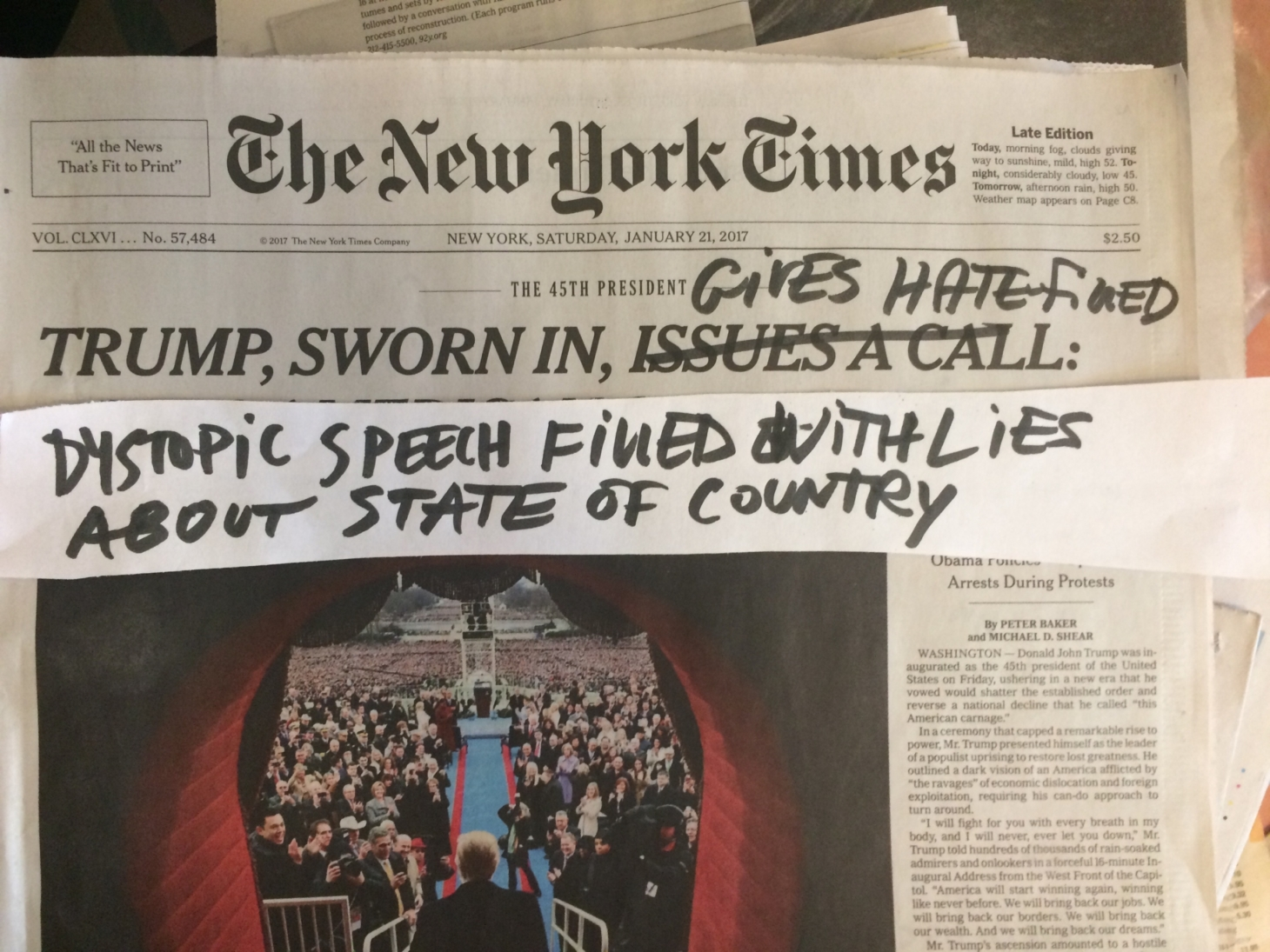 Mira Schor's Critical Annotations of the New York Times