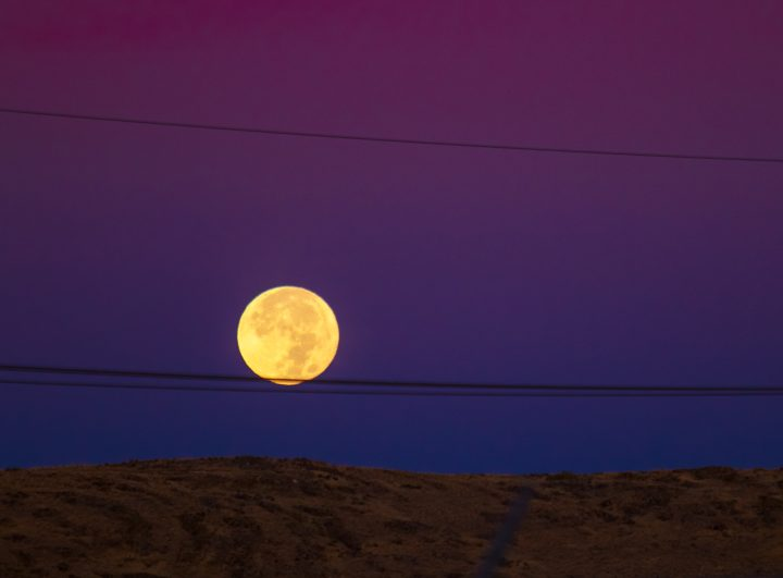 """Photographers who had been on standby on the morning of Wednesday, September 2, captured arresting pictures of a full and vibrant """"Corn Moon"""" that shone over the horizon."""