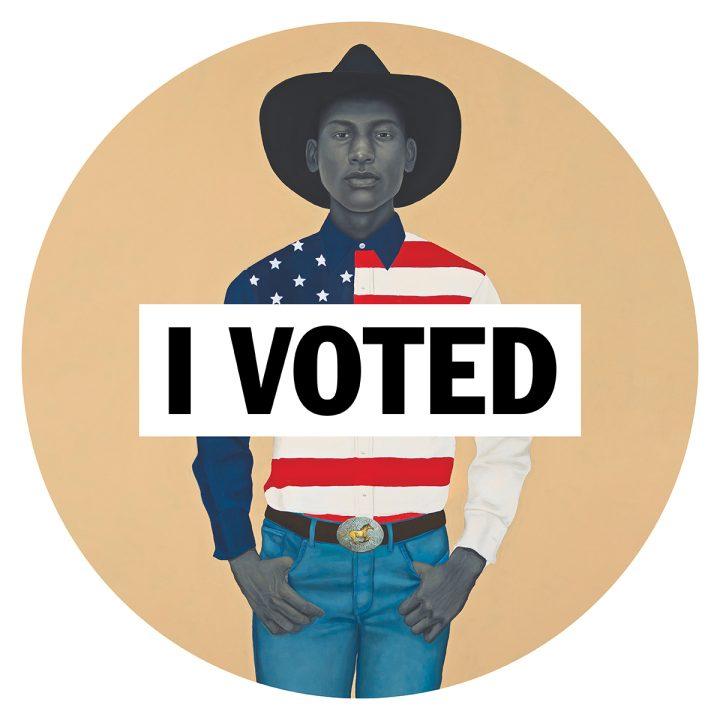 "Artists, Including David Hammons and Barbara Kruger, Reimagine ""I Voted"" Stickers"