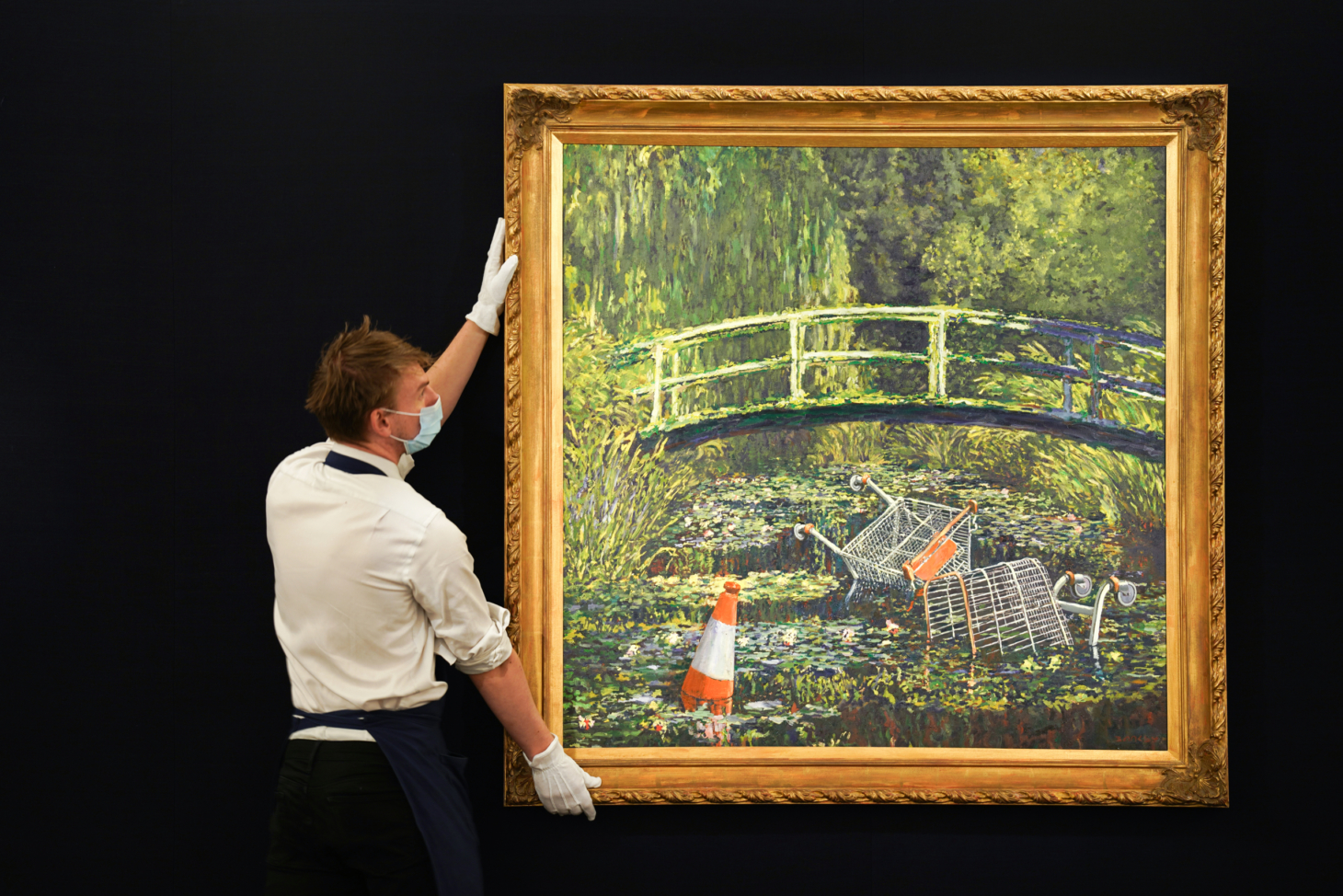 Banksy Painting Sells for M, Surpassing Its High Estimate