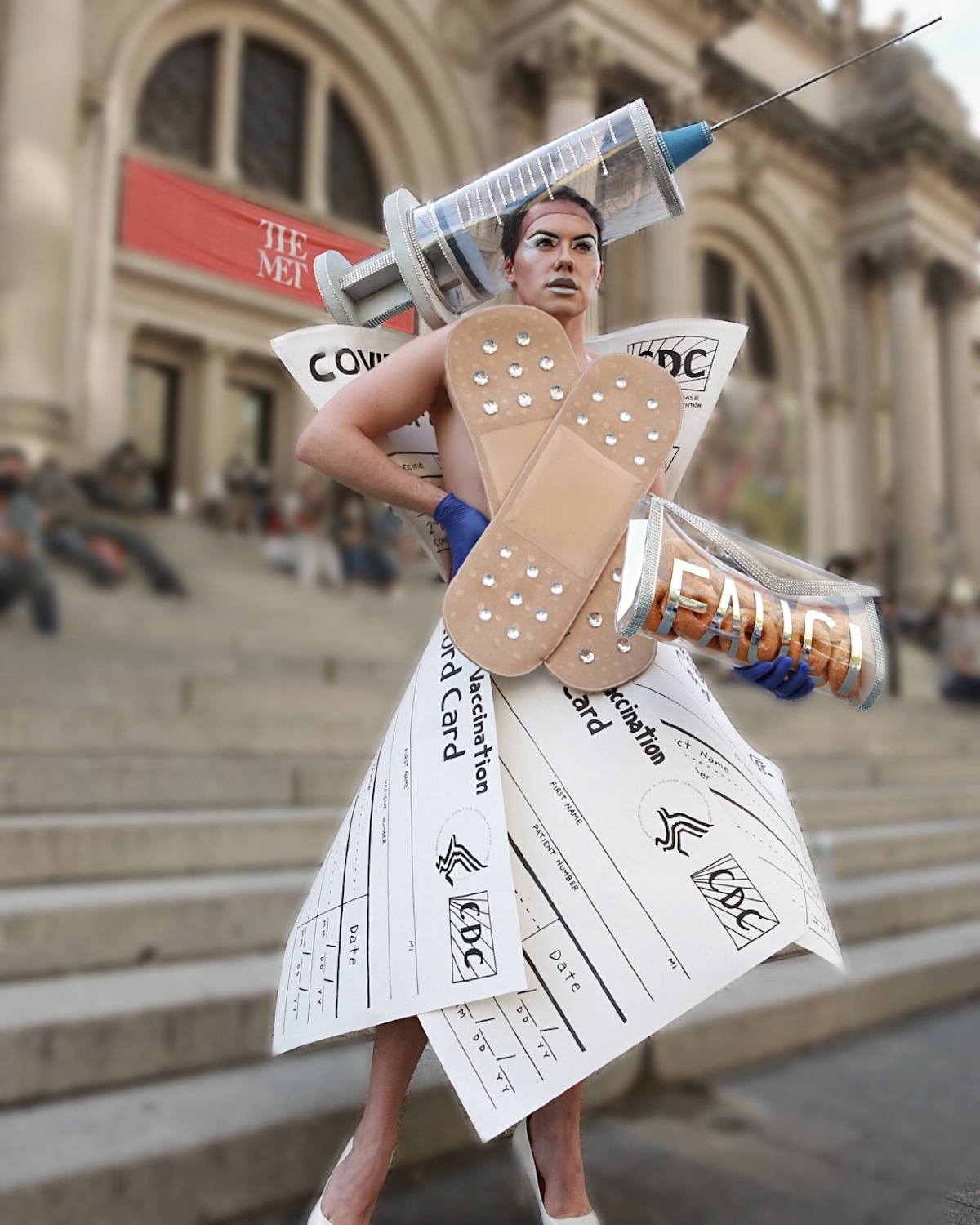 Artist's Vaccine-Inspired Met Gala Dress Is a Tribute to Science