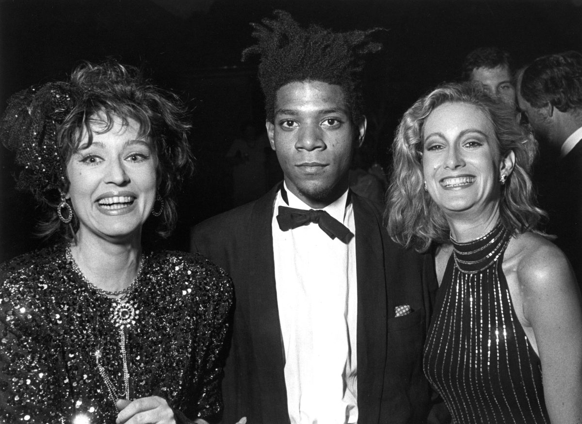 Basquiat with two rich women