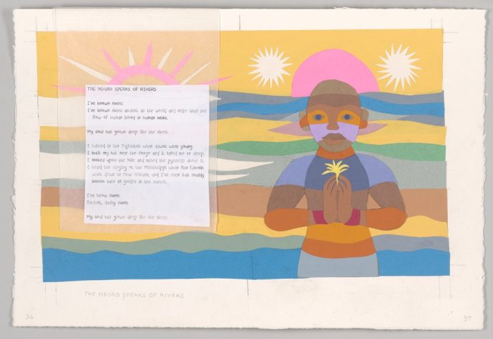 Collages Inspired by Langston Hughes Poems Acquired by Morgan Library
