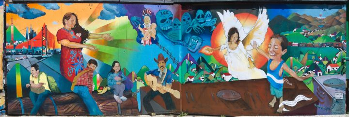"""A San Francisco Muralist Painting """"Latino Culture In All Its Beauty"""""""